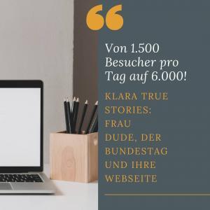 Frau Dude, der Bundestag und ihre Webseite
