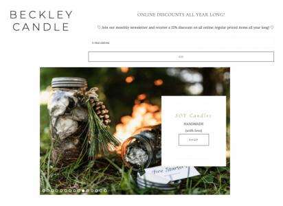 Backey Candle - Home AccessoiresKerzen