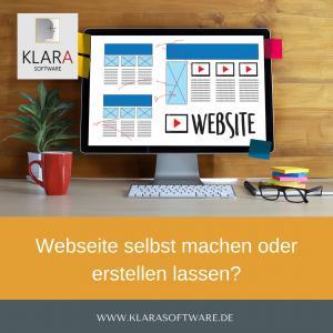 Webseite selbst machen oder erstellen lassen