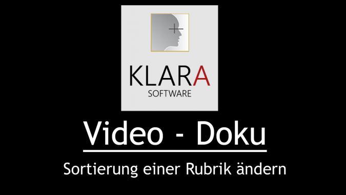 Video Doku - Sortierung einer Rubrik ändern