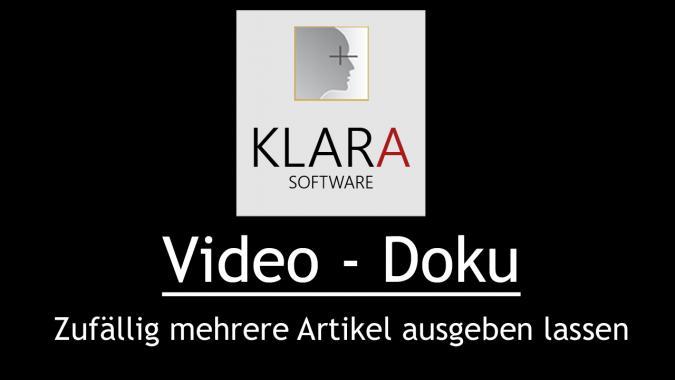 Video-Doku - Zufällig mehrere Artikel ausgeben lassen