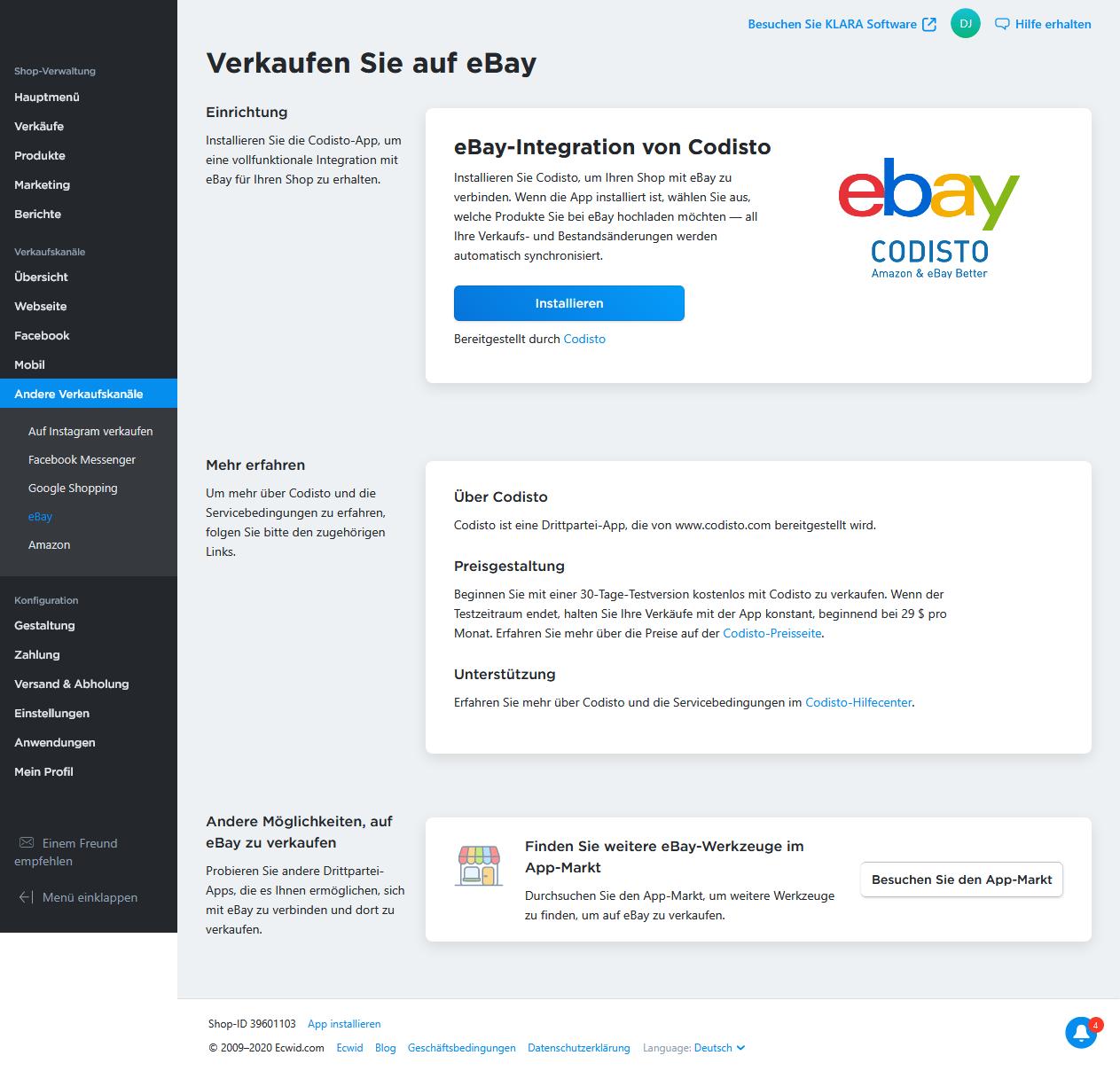 Verkaufen Sie bei ebay