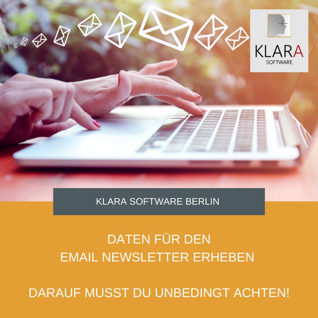 Daten für den Email Newsletter erheben