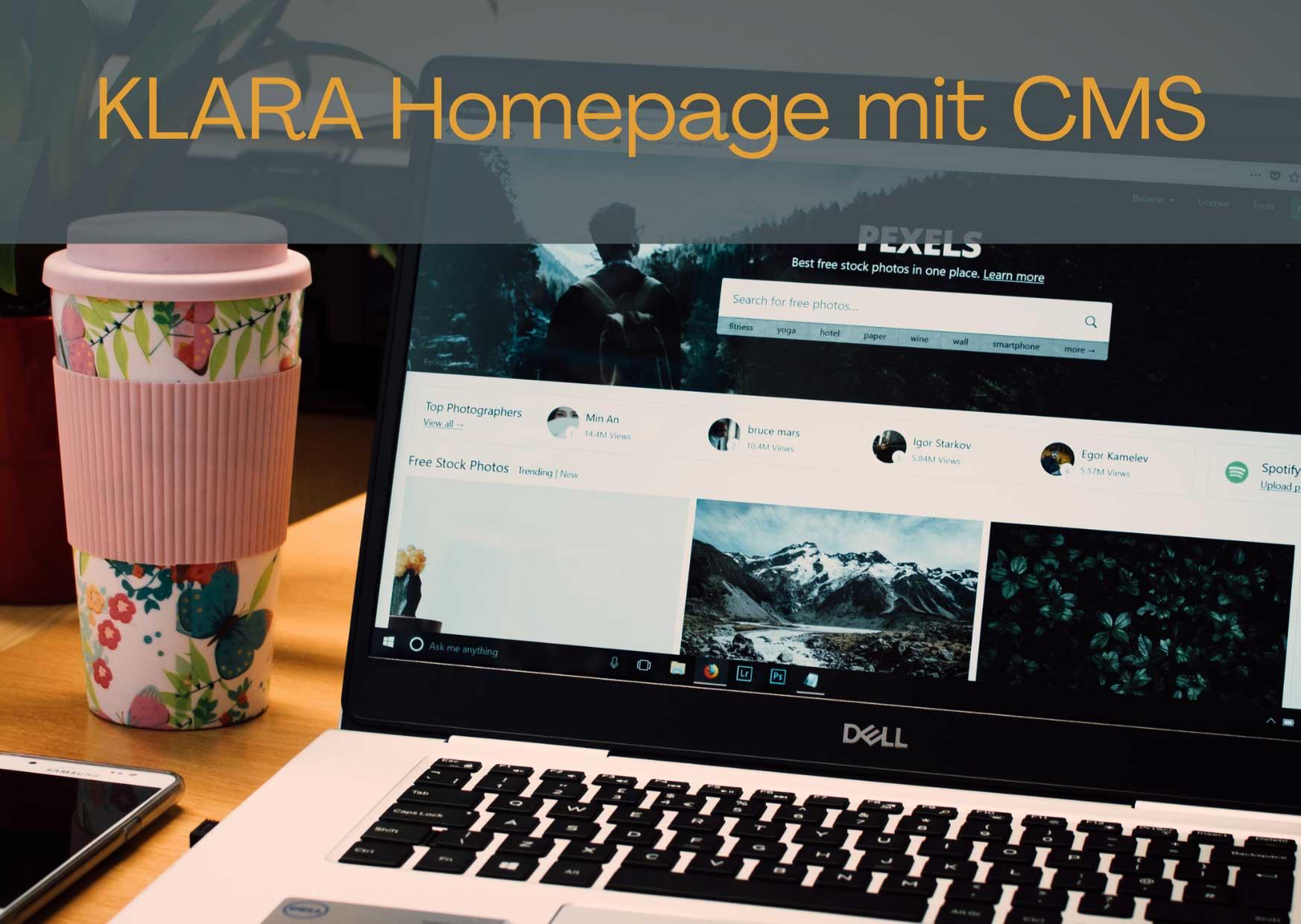 Ihre neue Homepage mit maßgeschneidertem Design UND mit CMS