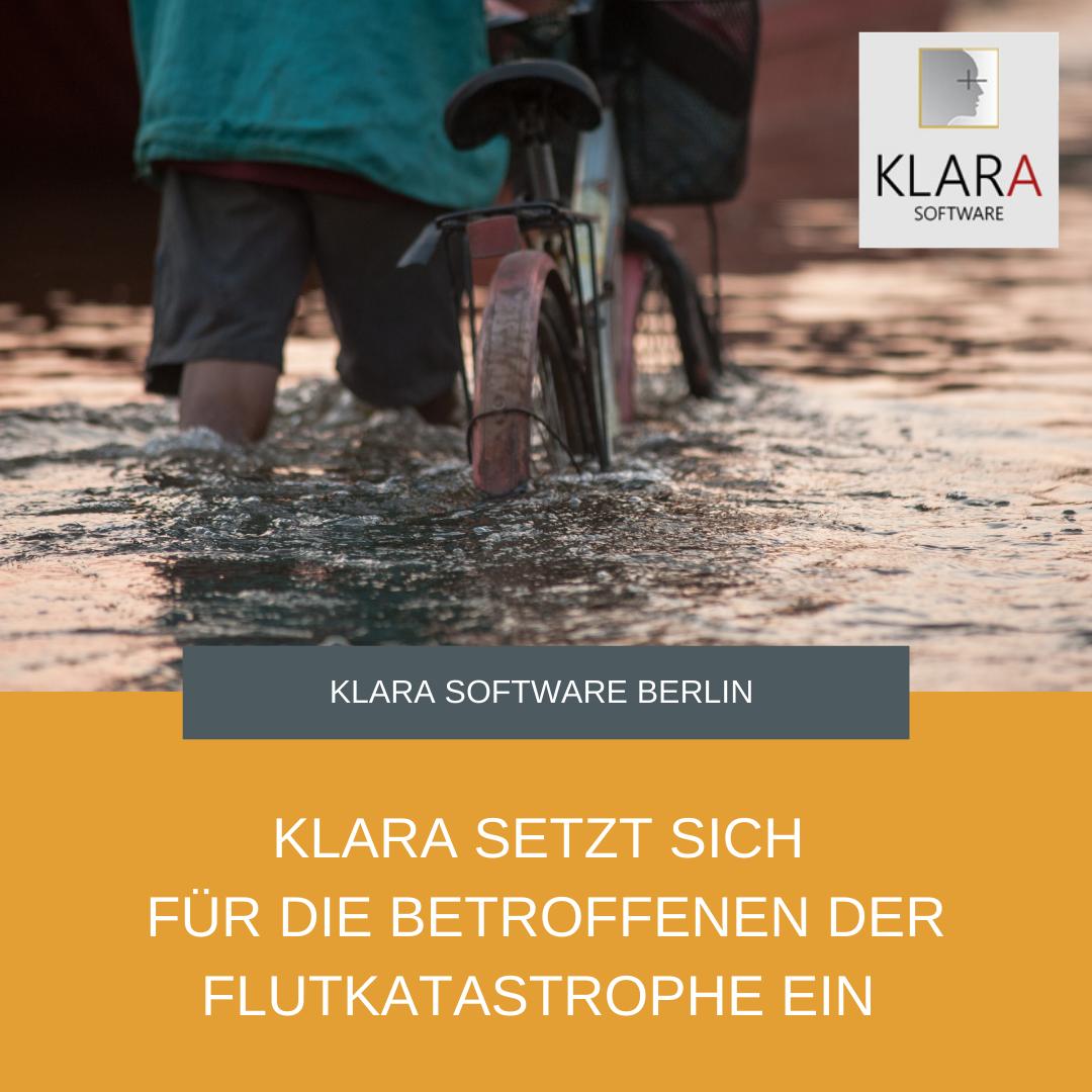 KLARA setzt sich für die Betroffenen der Flutkatastrophe in NRW und Rheinland-Pfalz ein