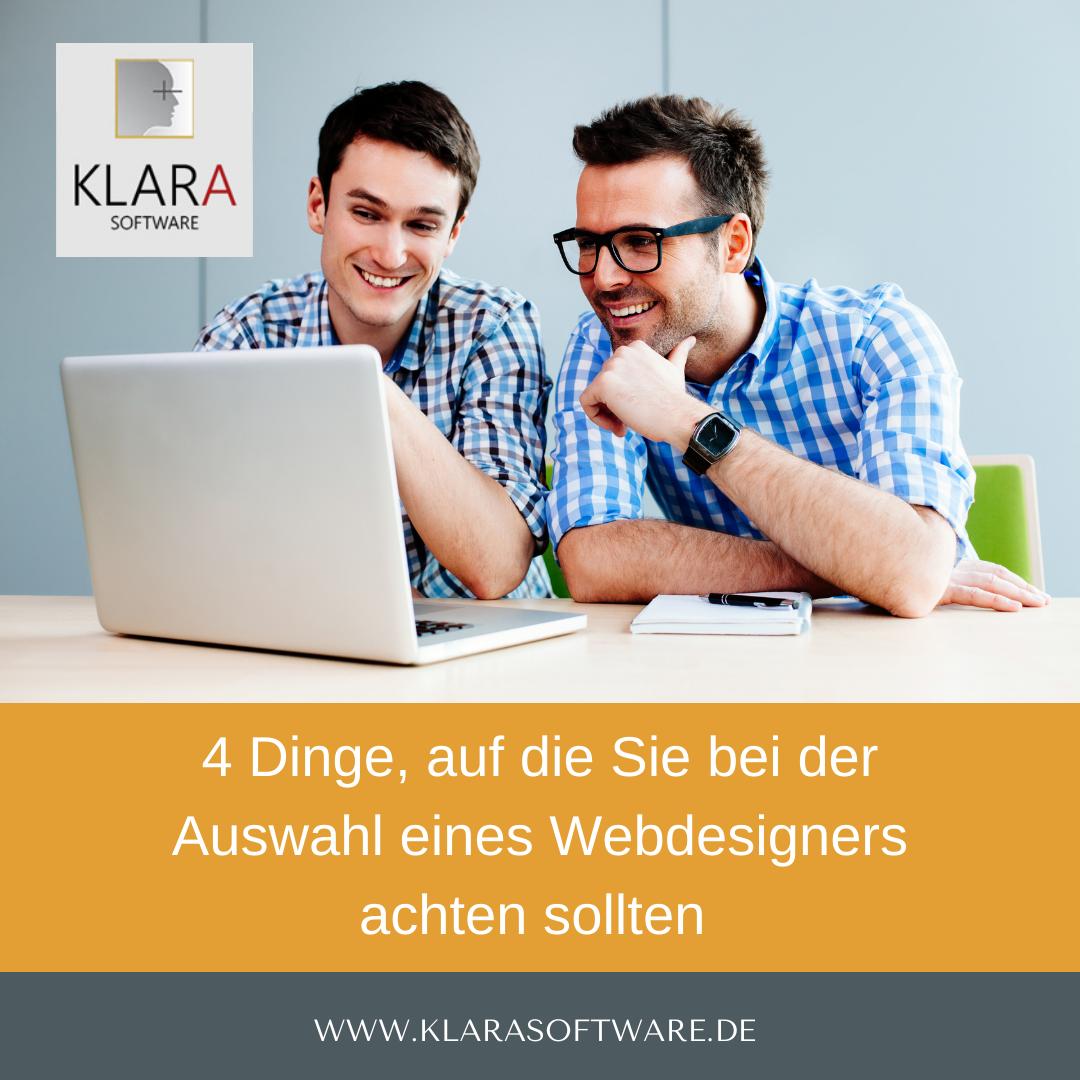 4 Dinge, auf die Sie bei der Auswahl eines Webdesigners achten sollten